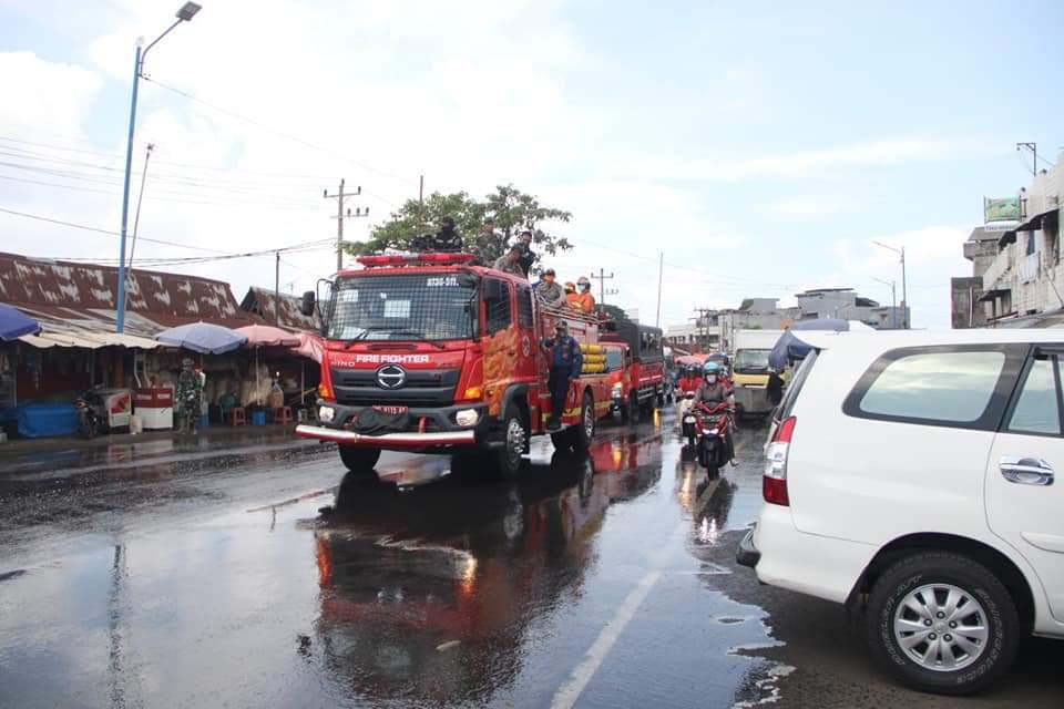 Photo of Upaya Pencegahan Covid-19 Di Bengkulu, Penyemprotan Disinfektan Dilakukan