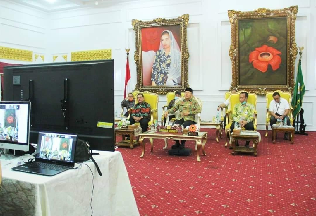 Photo of Virtual Meeting. Bank Bengkulu Ekspose Saham Seri B