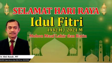 "Photo of Kepala Dinas Cipta Karya dan SDA Prov Sulteng, ""Mengucapkan Minal Aidzin Walfa Idzin"""