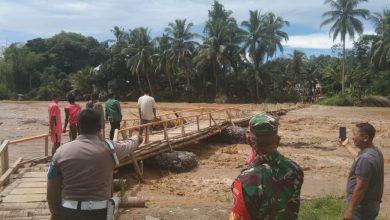 Photo of Debit Air Sungai Hantakan Naik. Dandim 1002/HST Himbau Warga Waspada