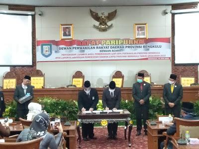Photo of Paripurna: Penyerahan LHP Terkait LKPD Provinsi Bengkulu TA 2019