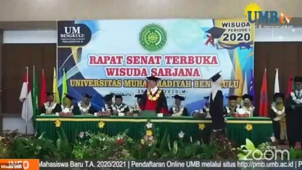 Photo of Gelar Wisuda Virtual, Gubernur Rohidin Apresiasi Dedikasi UMB